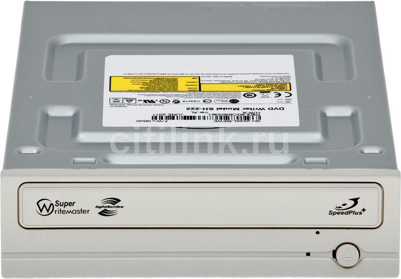 Оптический привод DVD-RW SAMSUNG SH-222AL/BEWE, внутренний, SATA, белый,  OEM