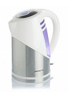Чайник электрический POLARIS PWK1894CLS, 2200Вт, белый и серебристый