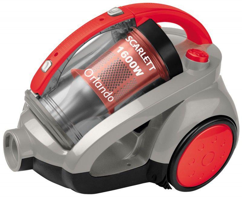 Пылесос SCARLETT SC-1086 + утюг SC134S, 1600Вт, красный/серый