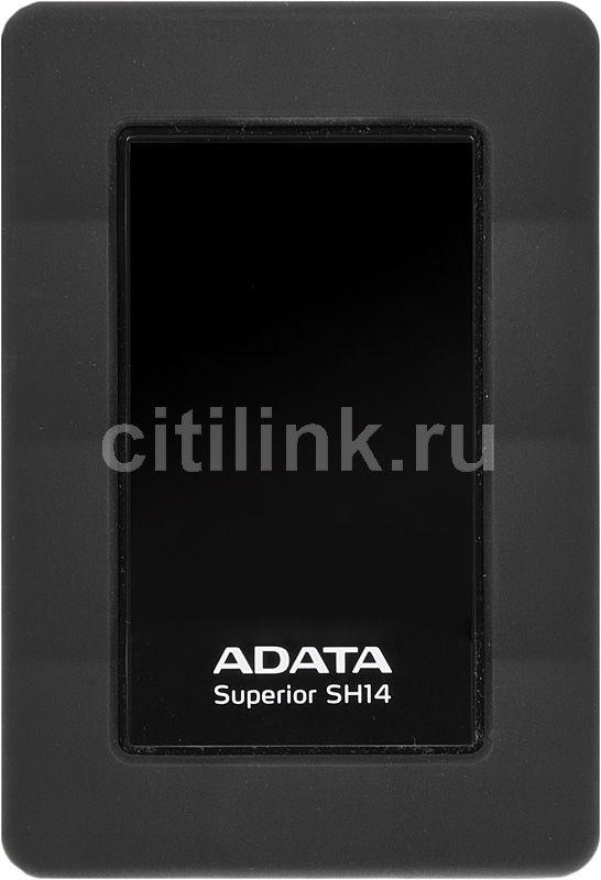 Внешний жесткий диск A-DATA Superior SH14, 1Тб, черный [ash14-1tu3-cbk]