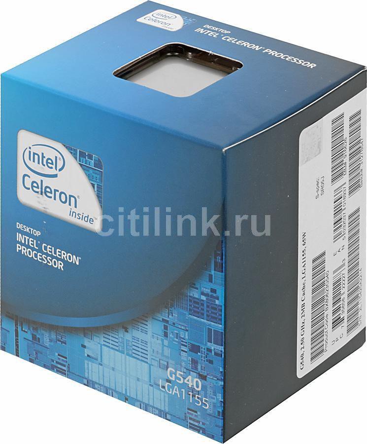 Процессор INTEL Celeron G540, LGA 1155 BOX [bx80623g540    s r05j]