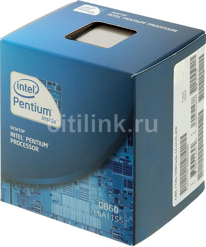 Процессор INTEL Pentium G860, LGA 1155 BOX [bx80623g860    s r058]