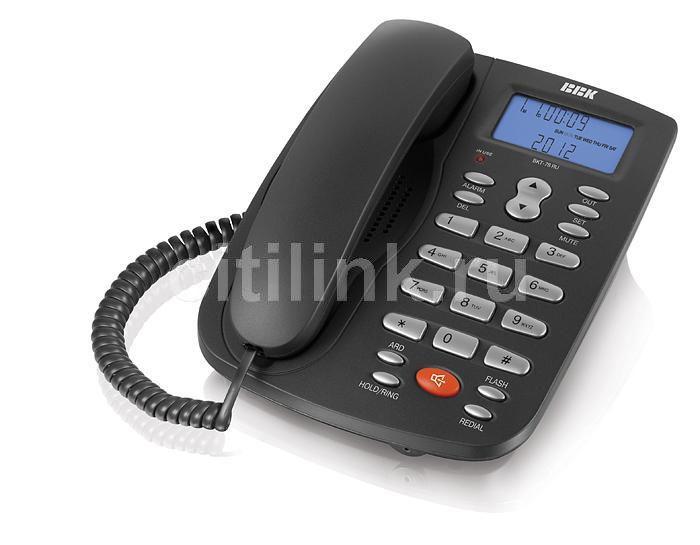 Проводной телефон BBK BKT-78 RU, серебристый и  черный
