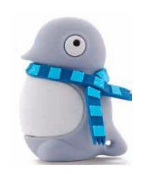Флешка USB BONE Penguin 4Гб, USB2.0, серый [dr07021-4dg]