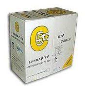 Кабель информ. Lanmaster (LAN-5EUTP-PT-GY) кат.5е U/UTP 4X2X24AWG PVC внутр. 305м сер.