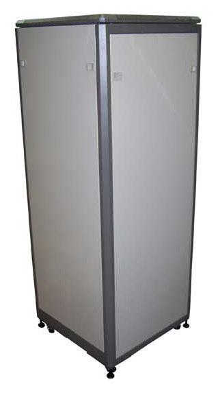 Шкаф коммутационный Lanmaster Eco (TWT-CBE-36U-6X6) 36U 600x600мм пер.дв.стекл задн.дв.спл.стал.лист