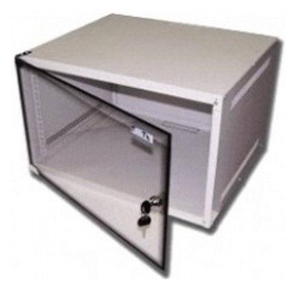 Шкаф настенный Lanmaster Lite (TWT-CBWL-9U-6X4 ) 9U 600x450мм пер.дв.стекл несъемные бок.пан. 30кг с