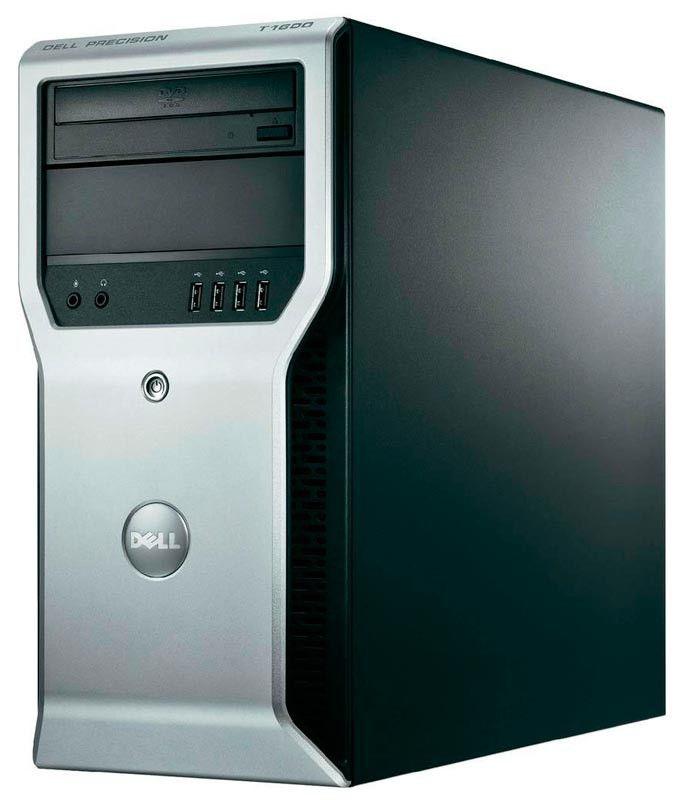 Рабочая станция  DELL Precision T1600,  Intel  Xeon  1225,  DDR3 4Гб, 500Гб,  Intel HD Graphics,  DVD-RW,  Windows 7 Professional,  черный и серебристый [p061600101r]