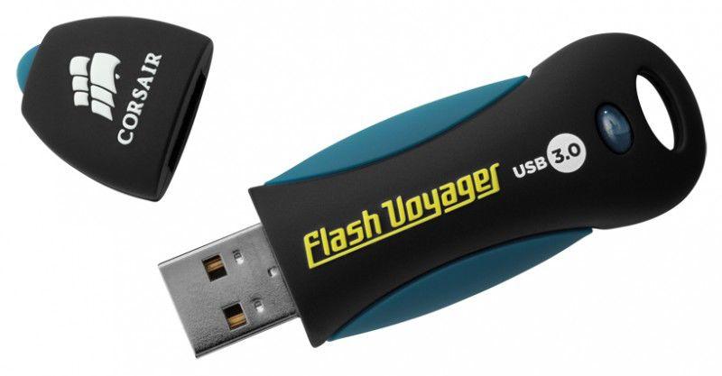 Флешка USB CORSAIR Voyager 16Гб, USB3.0, черный [cmfvy3s-16gb]