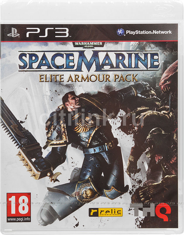 Игра SOFT CLUB Warhammer 40000: Space Marine. Elite Armor Pack для  PlayStation3 Rus (документация)