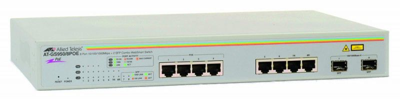 Коммутатор ALLIED TELESIS AT-GS950/8POE-50