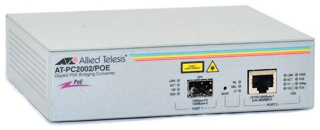Медиаконвертер Allied Telesis AT-PC2002POE-50 10/100/1000T to fiber SFP PoE