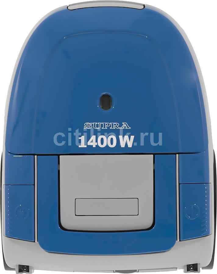 Пылесос SUPRA VCS-1475, 1400Вт, синий