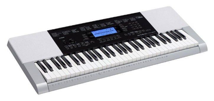 Синтезатор CASIO CTK-4200, 61, невзвешенная, полноразмерные, 48, серый