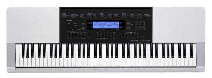 Синтезатор CASIO WK-220, 76, невзвешенная, полноразмерные, 48, серый