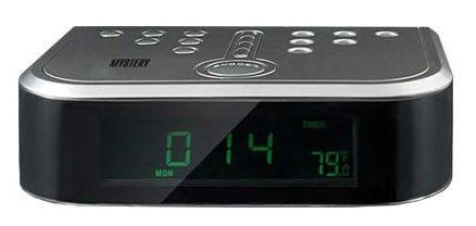 Радиобудильник MYSTERY MCR-66, зеленая подсветка,  серебристый