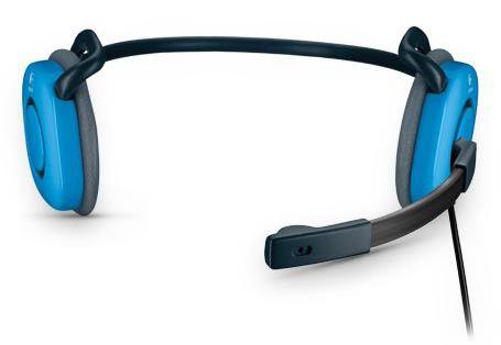 Наушники с микрофоном LOGITECH Stereo Headset H130,  981-000363,  накладные, черный  / голубой