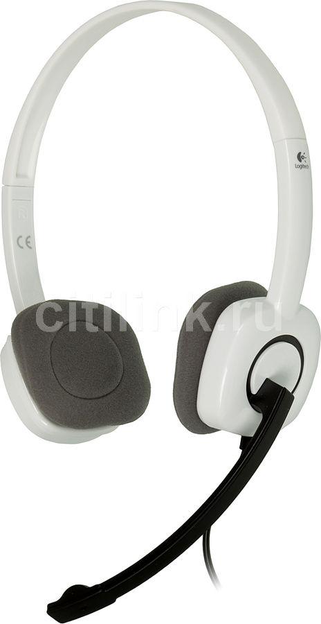 Наушники с микрофоном LOGITECH H150,  981-000350,  накладные, белый