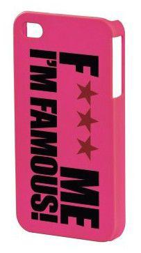 Чехол (клип-кейс) HAMA F*** ME I'M FAMOUS H-108588, для Apple iPhone 4/4S, розовый