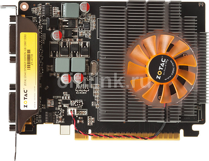 Видеокарта ZOTAC GeForce GT 440 Synergy, ZT-40708-10L,  1Гб, DDR3, Ret