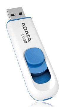Флешка USB A-DATA Classic 32Гб, USB2.0, белый и синий [c008]