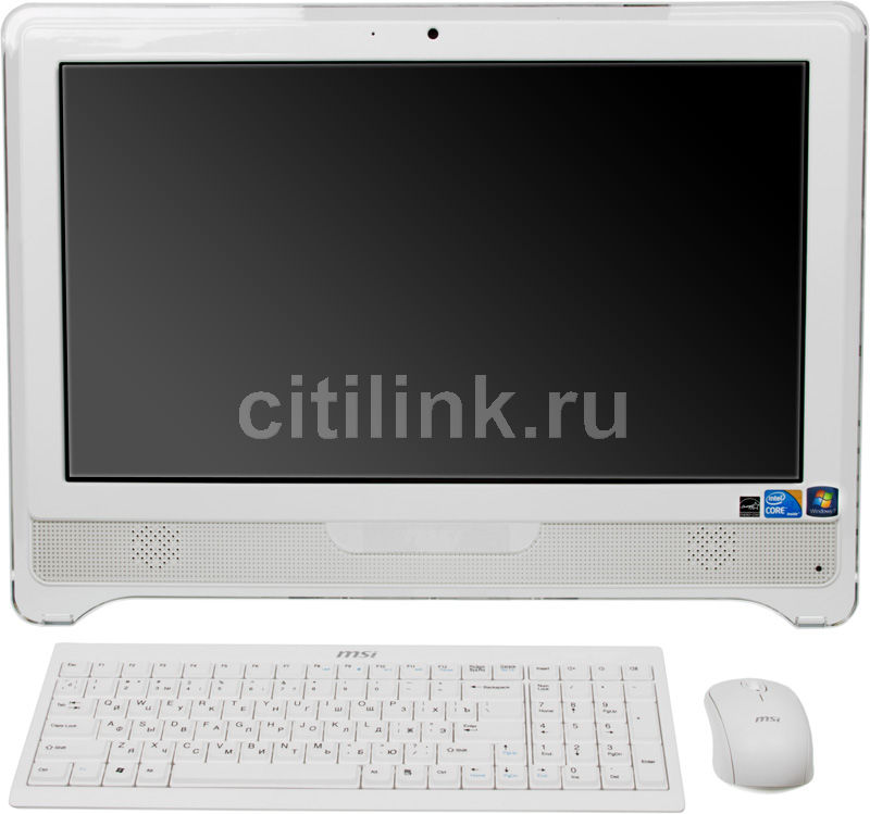 Моноблок MSI AE2240-060, Intel Core i3 380M, 4Гб, 1000Гб, Intel HD Graphics, DVD-RW, Windows 7 Home Premium, белый [9s6ac2213060]