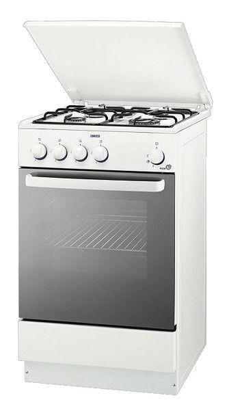 Газовая плита ZANUSSI ZCG 55EGW,  газовая духовка,  белый [zcg55egw]