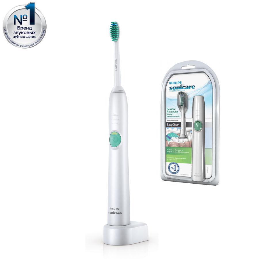 Электрическая зубная щетка PHILIPS Sonicare EasyClean HX6511 белый [hx6511/02]