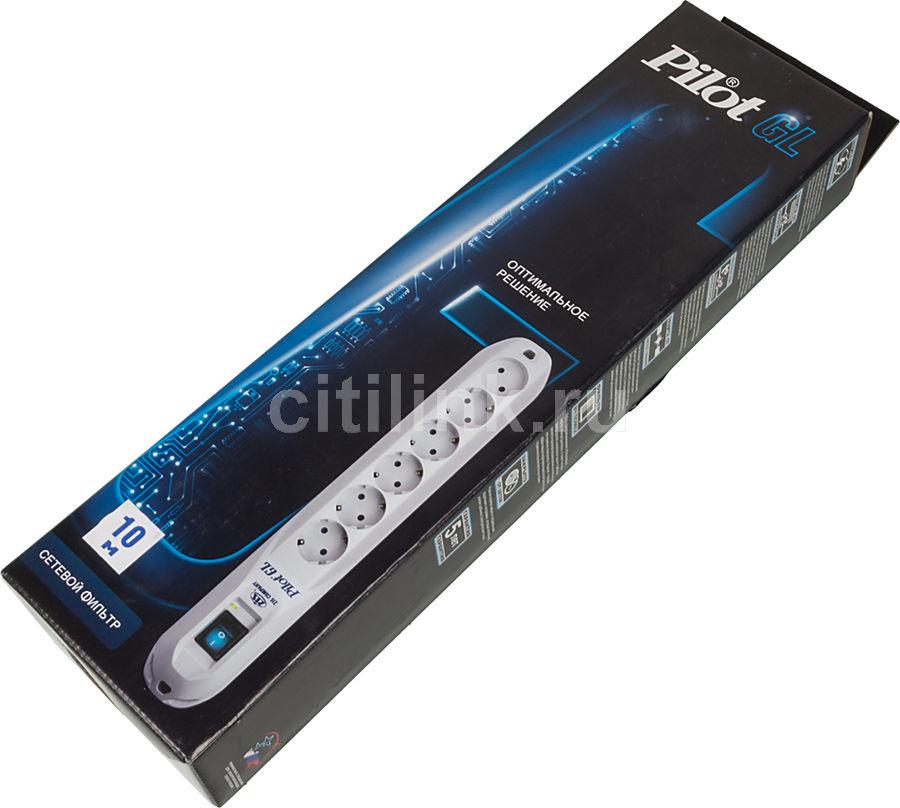 Сетевой фильтр Pilot GL 1.8м (6 розеток)