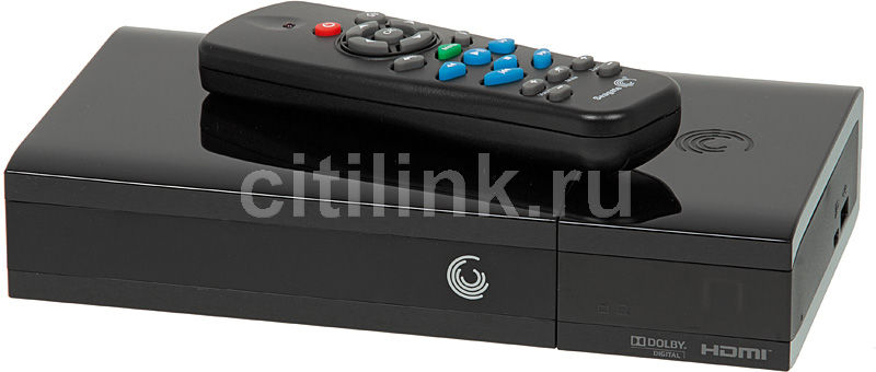 Медиаплеер SEAGATE STBG1000200 GoFlex Cinema,  1Тб черный