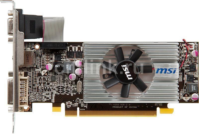 Видеокарта MSI Radeon HD 6570,  2Гб, DDR3, Low Profile,  Ret [r6570-md2gd3/lp]