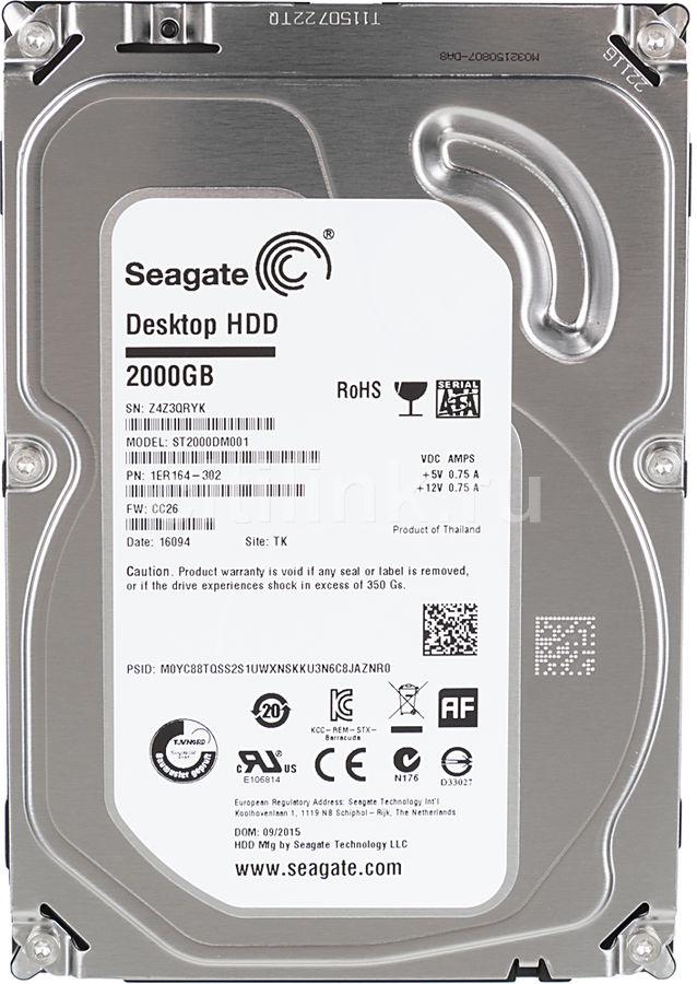 Жесткий диск SEAGATE Desktop ST2000DM001,  2Тб,  HDD,  SATA III,  3.5