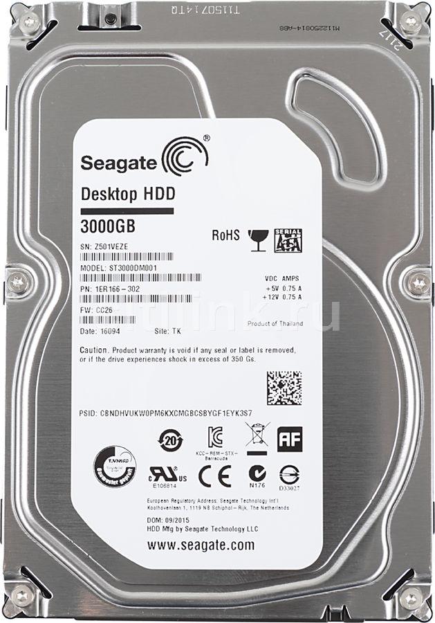 "Жесткий диск SEAGATE Desktop ST3000DM001,  3Тб,  HDD,  SATA III,  3.5"""