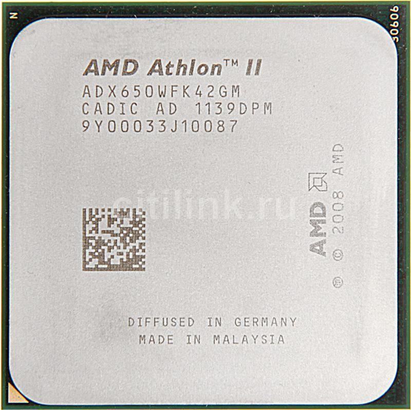 Процессор AMD Athlon II X4 650, SocketAM3 OEM [adx650wfk42gm]