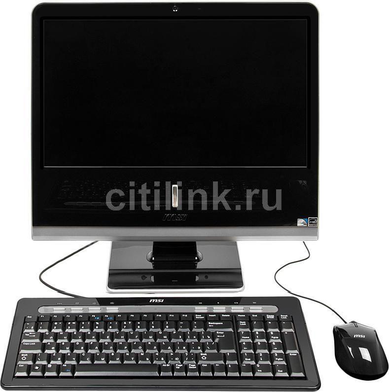 Моноблок MSI AP1920-095, Intel Atom D525, 2Гб, 320Гб, Intel GMA 3150, DVD-RW, Windows 7 Starter, черный и серебристый [9s6a91212095]