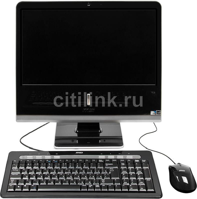 Моноблок MSI AP1920-202RU, Intel Atom D525, 2Гб, 320Гб, Intel GMA 3150, DVD-RW, Windows 7 Starter, черный и серебристый [9s6a91212202]