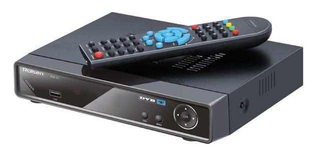 Ресивер DVB-T ROLSEN RDB-101,  черный