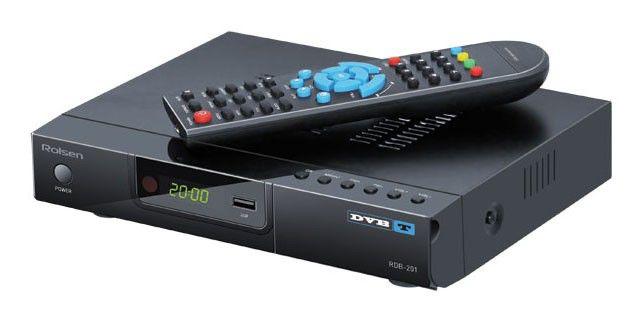 Ресивер DVB-T ROLSEN RDB-201,  черный