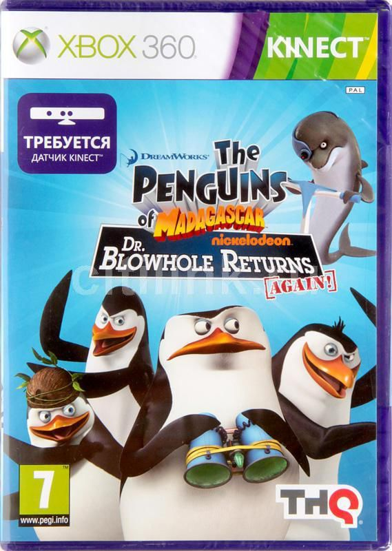 Игра MICROSOFT Penguins of Madagascar: Dr. Blowhole Returns Again (MS Kinect) для  Xbox360 Rus (документация)