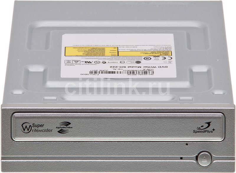 Оптический привод DVD-RW SAMSUNG SH-222AL/BESE, внутренний, SATA, серебристый,  OEM