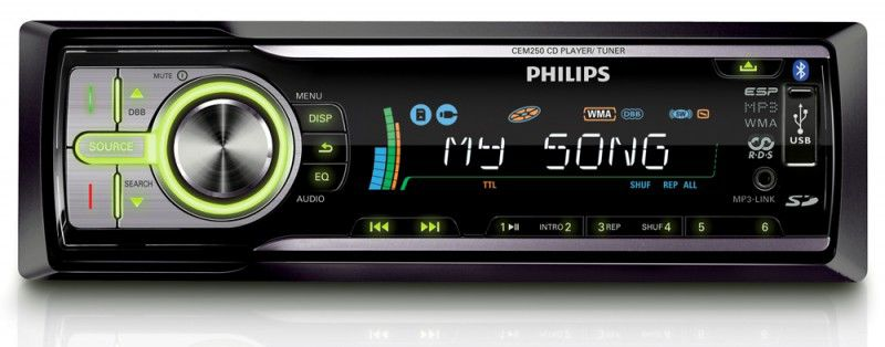 Автомагнитола PHILIPS CEM250/51,  USB,  SD