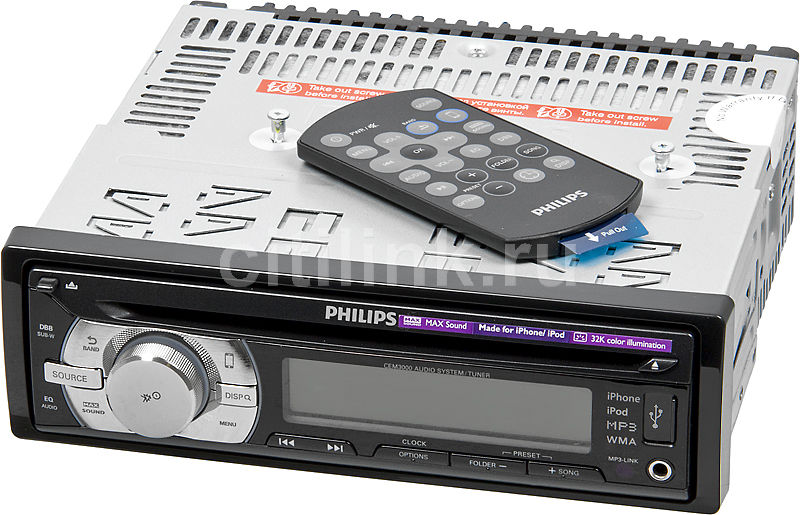 Автомагнитола PHILIPS CEM3000/51,  USB
