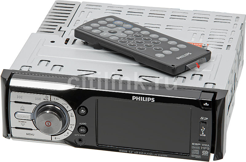 Автомагнитола PHILIPS CED320/51,  USB,  SD
