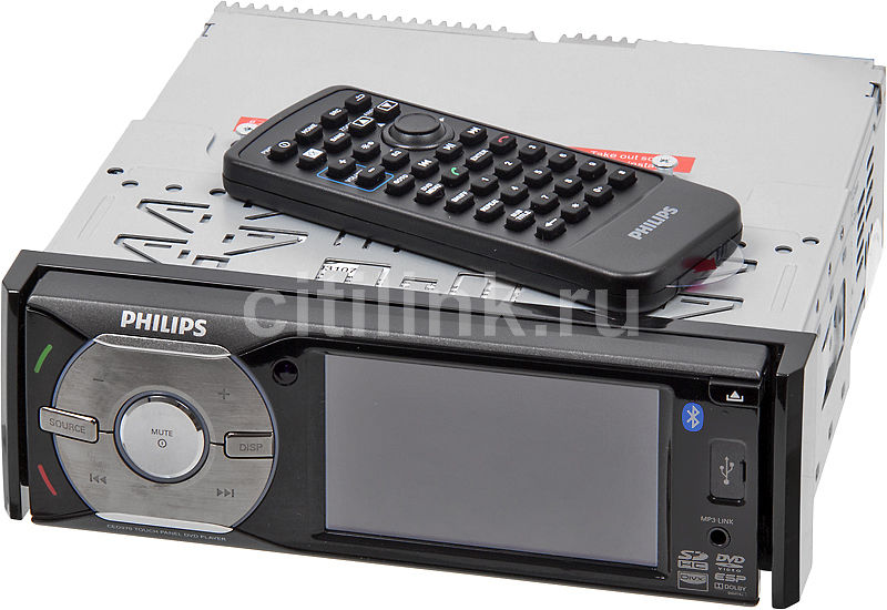 Автомагнитола PHILIPS CED370/51,  USB,  SD