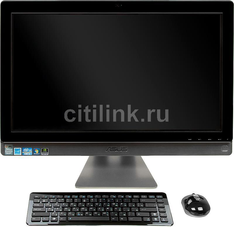 Моноблок ASUS ET2410INTS, Intel Core i5 2400S, 6Гб, 1000Гб, nVIDIA GeForce GT540M - 1024 Мб, Blu-Ray, Windows 7 Home Premium, черный [90pt0041000100c]