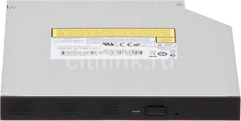 Оптический привод DVD-RW SONY AD-7700H-01, внутренний, SATA, черный,  OEM