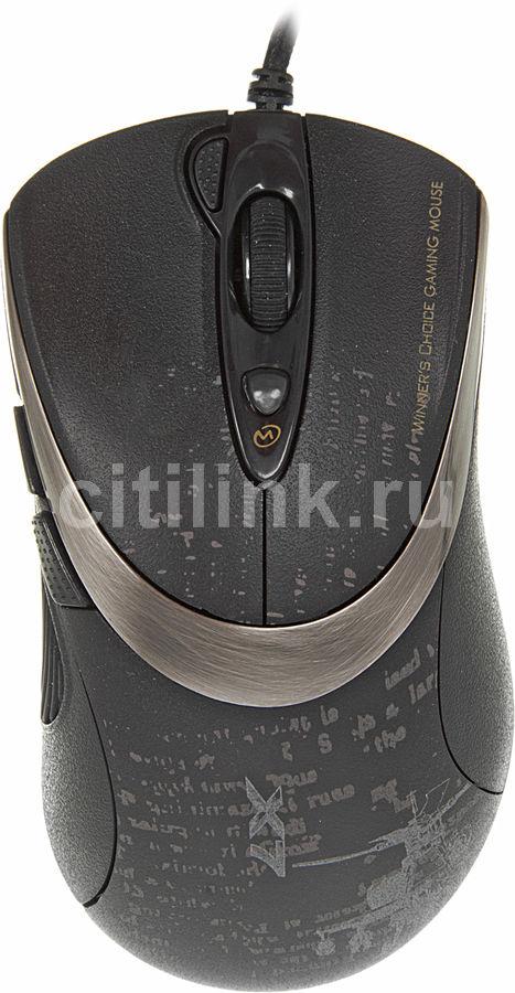 Мышь A4 V-Track F4 оптическая проводная USB, черный