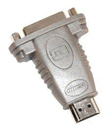 Переходник DVI  HDMI19 (m) -  DVI-D(f),  серый [bw1463]