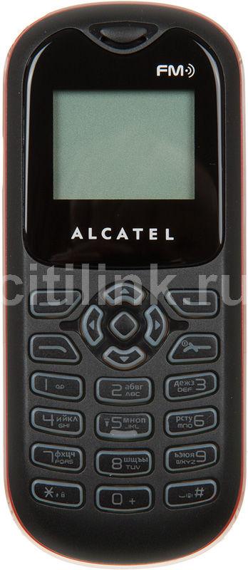 Мобильный телефон ALCATEL OT108  темно-красный