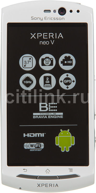 Смартфон SONY Xperia neo V MT11i  белый